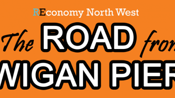 Banner the road from wigan pier